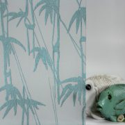 Bamboo Shoots Aqua on Gossamer