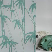 Bamboo Shoots Sea Green on Gossamer
