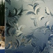 Battleship Grey Cut Glass Leaves