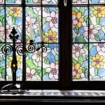 Colored Flowers Stained Glass R087136