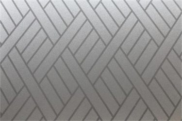 Modern Angled Rectangles - Clear on Sandblast