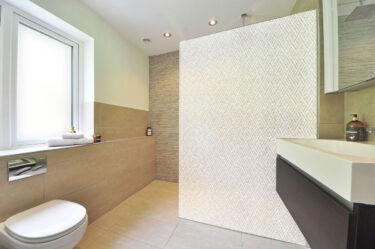 Modern Angled Rectangles - White On Gossamer Decorative Window Film