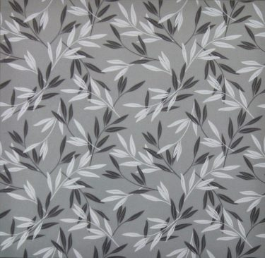 Privacy Leaves II - White and Grey Decorative Window Film