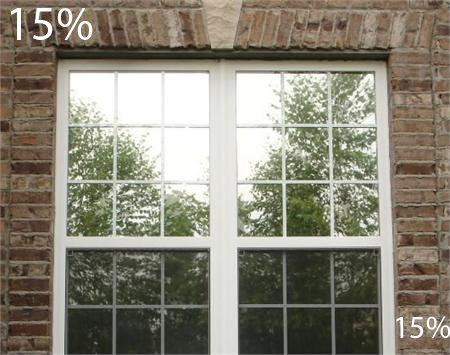 One Way Mirror Window Film with Nighttime Vision 15%