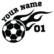 Black Soccer Flame