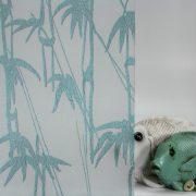 Bamboo Shoots Aqua on Gossamer
