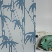 Bamboo Shoots Blue on Gossamer