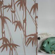 Bamboo Shoots Burnt Orange on Gossamer