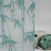 Bamboo Shoots Sea Green on Gossamer