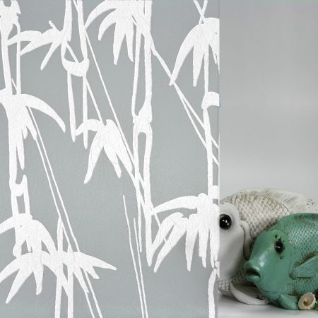 Bamboo Shoots White on Gossamer