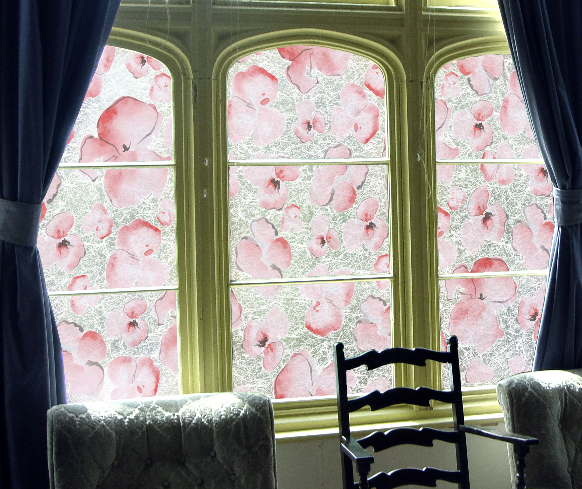Watercolor Flowers on Gossamer 5 Color Options Available