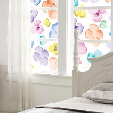 Multi Watercolor Flowers Frost