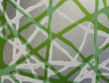 Privacy Web Green Decorative Window Film