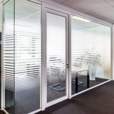 White Frost Dual Line Gradient II Decorative Window Film