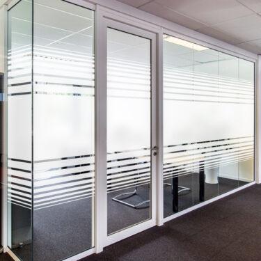 White Frost Dual Line Gradient I Decorative Window Film
